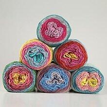 Fil teint en arc-en-ciel, 100g, pour tricot, 5