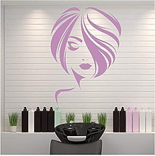 Fille Cheveux Courts Style Wall Sticker Decal