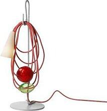 FILO EMERALD KING-Lampe à poser H58cm gris rouge