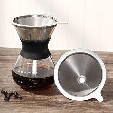 Filtre à café à Double entonnoir S/M/L,