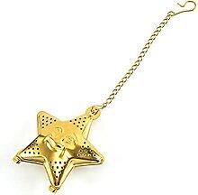 Filtre à thé en forme d'étoile en acier