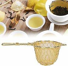 Filtre à thé, infuseur à thé, or pour