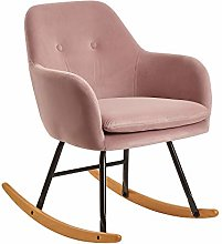 FineBuy Chaise à Bascule Rose Scandinave 71 x 76