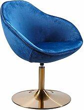 FineBuy Chaise Longue Bleu Velours 70 x 79 x 70 cm
