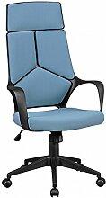 FineBuy Design Chaise Bureau Tissu Chaise