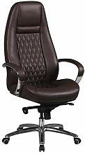 FineBuy Design Chaise de Bureau Brun Fauteuil de