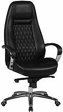 FineBuy Design Chaise de Bureau Noir Fauteuil de