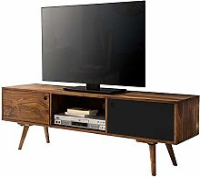 FineBuy Meuble TV Bois Massif Sheesham 140 x 45 x