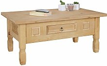 FineBuy Table Basse Bois Massif Pin Mexicaine 100