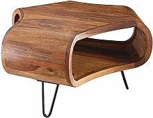 FineBuy Table Basse Bois Massif Sheesham 55 x 38 x