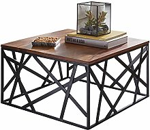 FineBuy Table Basse Bois Massif Sheesham Table de