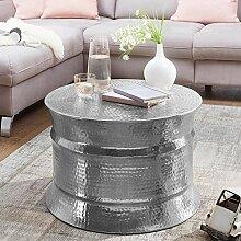 FineBuy Table Basse de Salon Argenté Aluminium