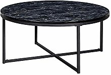 FineBuy Table Basse de Salon Effet Marbré
