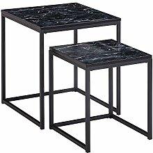 FineBuy Table Basse de Salon Lot de 2 Effet