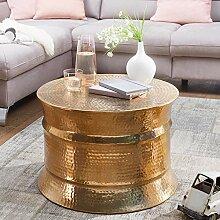 FineBuy Table Basse de Salon Or Aluminium