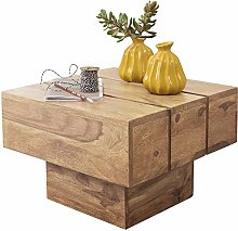 FineBuy Table d'appoint Bois Massif Acacia 44