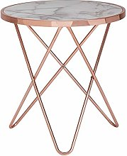 FineBuy Table d'appoint Rond 55 x 57 x 55 cm