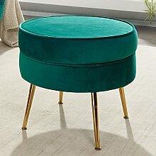 FineBuy Tabouret de Salon Vert 51x46x51 cm