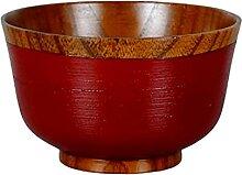 FINIVE Bol à soupe en bois fait à la main Style
