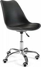 FINLEY - Chaise Fauteuil de bureau à roulettes