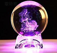FISISZ Signe du Zodiaque 3D Clair Boule De Cristal