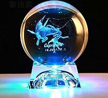 FISISZ Signe du Zodiaque 3D Transparent Boule De