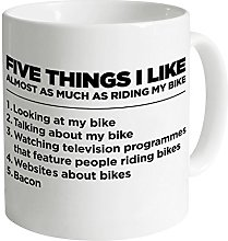 Five Things I Like - Bike 11oz Quality Mug, White