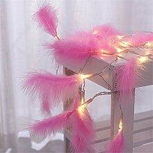 FJROnline Guirlande lumineuse à plumes 20 LED