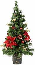 Flair Tannenbaum Poinsettia/Boule Lumineuse LED 90