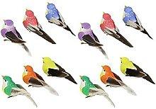 FLAMEER 2X 12 Pcs Figurines d'oiseaux