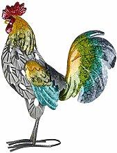 FLAMEER Coloré en Métal Peint Figurine Coq