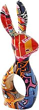 FLAMEER Graffiti Art résine Lapin Figurine