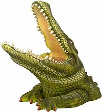 FLAMEER Jardin Ornement Alligator Figurine 3D
