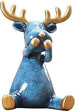FLAMEER Noël cerf Sculpture étagère Statue