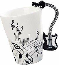 FLAMEER Notes De Musique Design Guitare Tasse