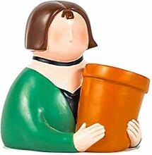 FLAMEER Pot de Fleur en Céramique Succulentes Pot