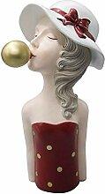 FLAMEER Résine Filles Statue Sculpture Style