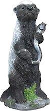 FLAMEER Résine Miel Blaireau Statue Maison Table
