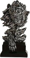 FLAMEER Statue en résine de Lion pour la