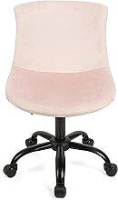 Flamingo Lot de 2 chaises de bureau en velours