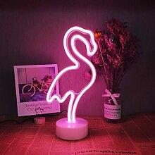 Flamingo Neon signes lumière rose néon LED