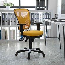 Flash Furniture Mid-Back Jaune-Orange en Maille