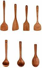 Flashing 7 pièces cuillère de cuisine en bois