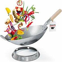 Flavemotion Wok + anneau wok pour induction,