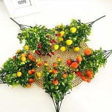 Fleur artificielle 35cm 7 fourchettes, 1 pièce,
