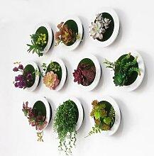 Fleur artificielle 3D, plante succulente suspendue