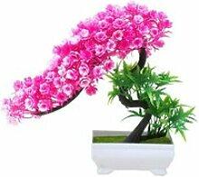 Fleur artificielle plante arbre en pot bonsaï