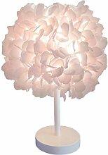 Fleur de soie rose lampe de chevet abat-jour de