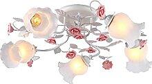 Fleur En Céramique Rose Métal Platefeuille De