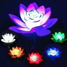 Fleur flottante artificielle de Lotus imperméable